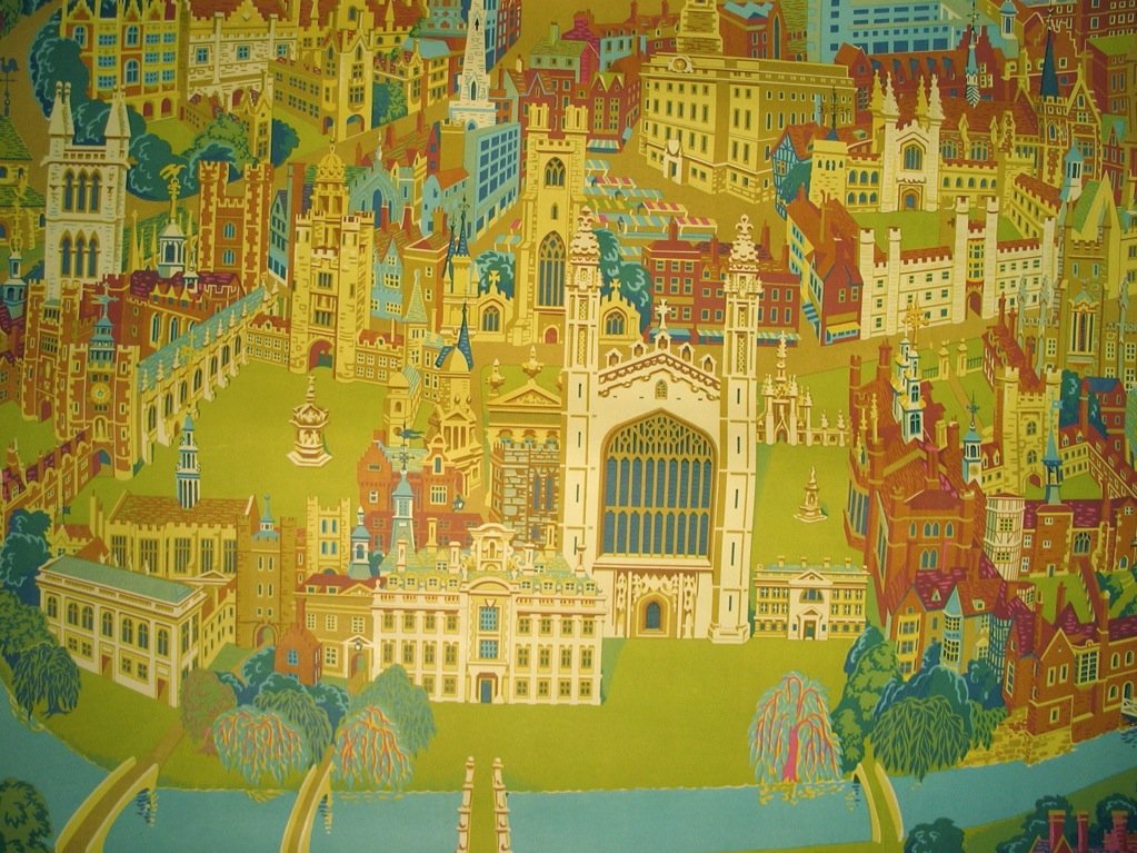 Vintage railway poster cambridge