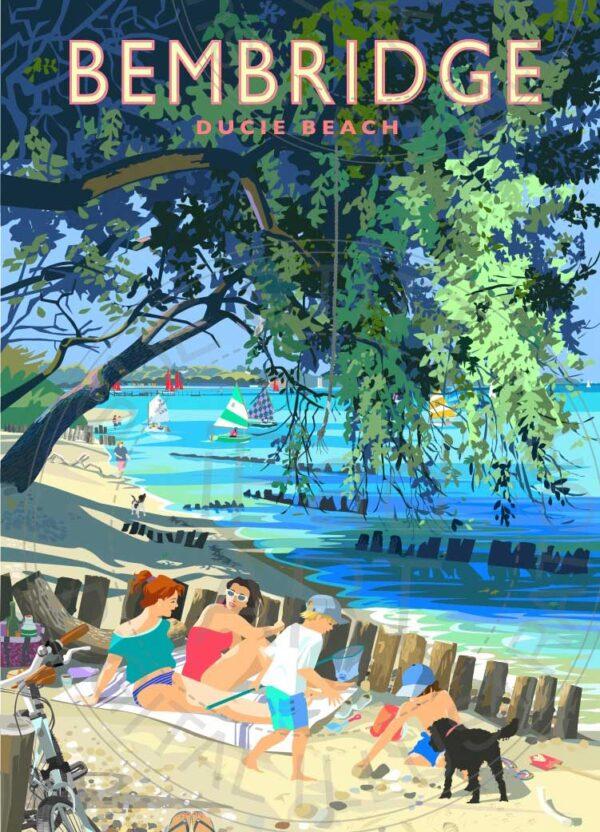 Bembridge Beach by artist Sue Stitt
