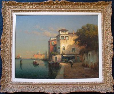 Antoine Bouvard Original Artist Signed oil painting of Venice