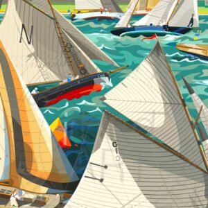 Cowes British Classic Week by artist Sue Stitt