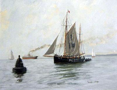 "David Cobb Marine Artist "" The Pilot Boat"""