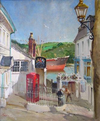 "Terence Cuneo Artist ""The Custom House Fowey Cornwall."""