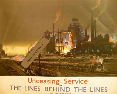 """Frank Mason """"Unceasing Service - The Lines Behind the Lines"""" original poster"""