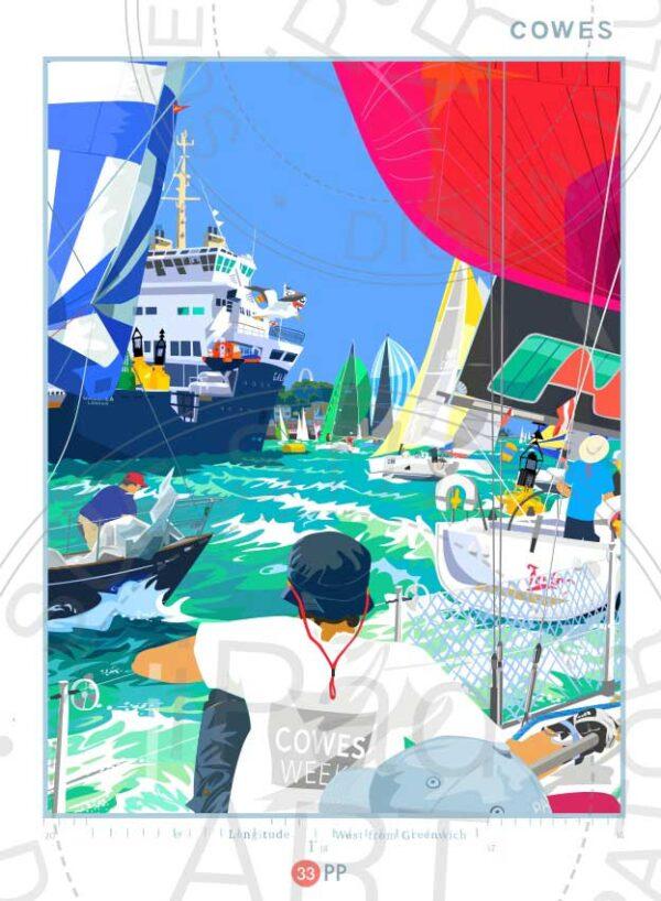 Lymington Harbour by Sue Stitt print