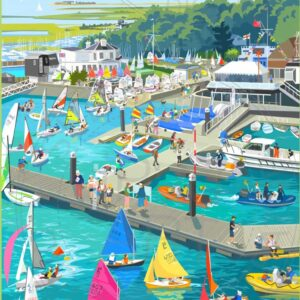 Lymington Harbour by Sue Stitt print