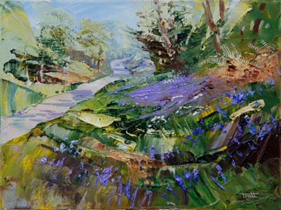 Richard Tratt Artist The Bluebell Verge