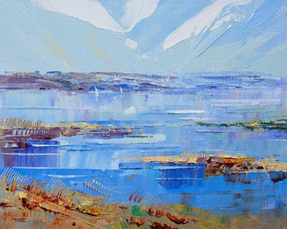 Richard Tratt Keyhaven dreaming oil painting