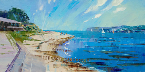 Summertime at Lepe by Richard Tratt Artist