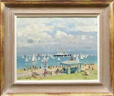 "Robert King Marine Artist - ""Cowes Week Regatta, The Parade Cowes"""