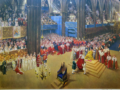 """""""The Coronation of Her Majesty Queen Elizabeth II"""" by Terence Cuneo"""
