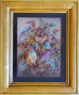 Albert Durer Lucas Original Oil Painting of blackberries New Forest Artist