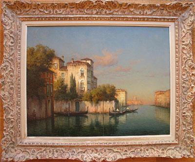 Antoine Bouvard Marc Aldine Original Artist Signed oil painting of Venice