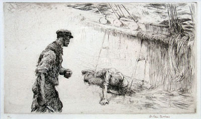 There Bucko Mate 1926 Arthur Briscoe Original signed artist etching
