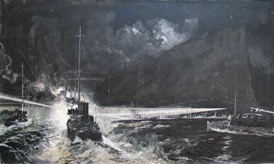 Gibraltar by the artist Charles Dixon RI