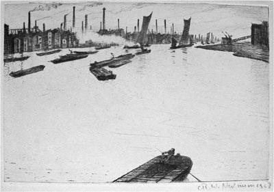 C.R.W. Nevinson, Thames