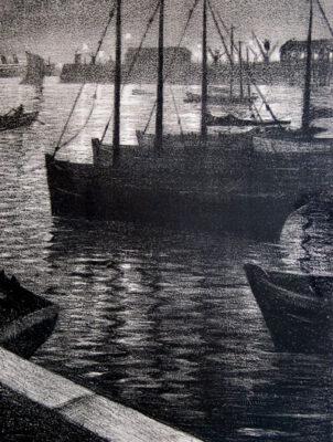 C.R.W. Nevinson, Le Port