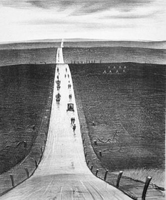 C.R.W. Nevinson, The Road from Arras to Bapaume