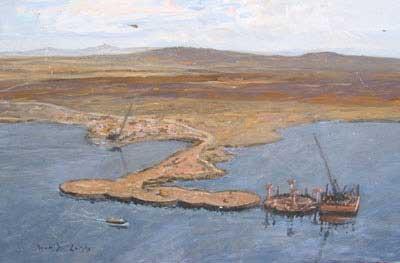 """Building the Pierhead Falkland Islands"" - David Cobb"