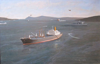 "David Cobb marine value ""Shipping off the Falkland Islands"""