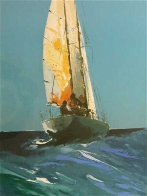 """Sailing"" by Donald Hamilton Fraser RA"