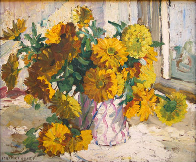 Marigolds Original oil painting by Dorothea Sharp