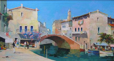 Venice - C.R.Doyly-John Original Signed Framed Oil Painting