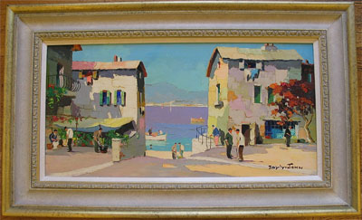 C.R.Doyly-John Palette Knife oil painting