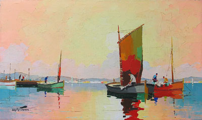 C.R.Doyly-John Red Sail oil painting