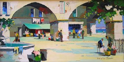 C.R.Doyly-John Street Scene oil painting