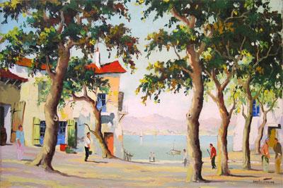 C.R.Doyly-John original Mediterranean oil painting