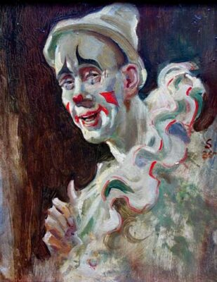 The White Clown - EDWARD SEAGO 1910-1974 Original signed oil painting