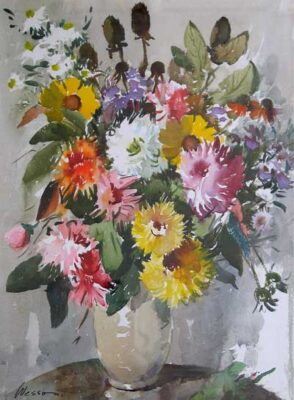Summer Flowers original watercolour painting by Edward Wesson