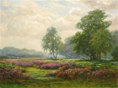 Heather - Frederick Golden Short - New Forest Artist Oil Painting - F.G.Short