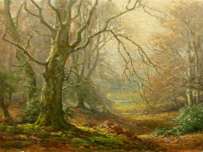 Autumn Trees - Frederick Golden Short - New Forest Artist Oil Painting - F.G.Short