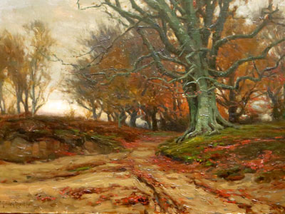 Forest Track - New Forest Artist Oil Painting - F.G.Short