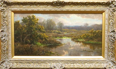 Lake - Frederick Golden Short - New Forest Artist Oil Painting - F.G.Short