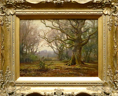 New Forest Landscape - Frederick Golden Short - New Forest Artist Oil Painting - F.G.Short