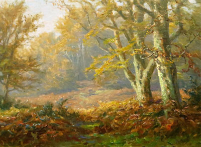 New Forest Artist Oil Painting - F.G.Short