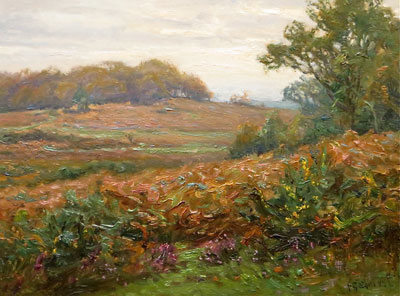 Frederick Golden Short - New Forest landscape- Artist Oil Painting - F.G.Short