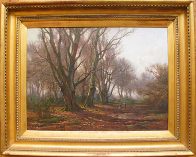 Large New Forest View - Frederick Golden Short - Oil Painting - F.G.Short