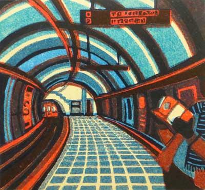 Gail Brodholt linocut prints