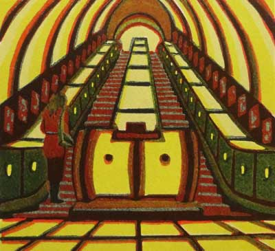 "Gail Brodholt -  ""Stand on the Right - London Underground"""