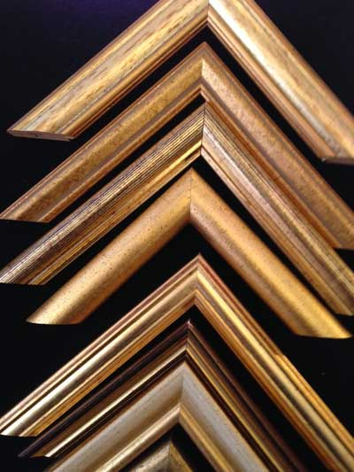 Gold moulding picture framing - perera