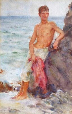 The Bather c.1915 by artist Henry Scott Tuke (H.S.Tuke)