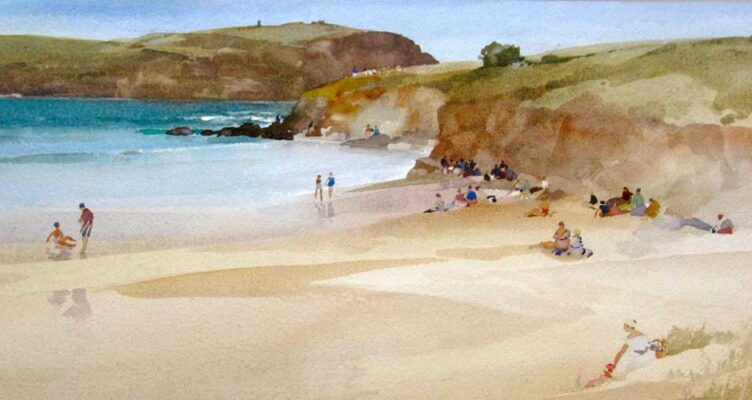 Sir William Russell Flint RA Daymer Bay, Cornwall