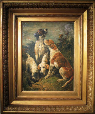 John Emms Original signed oil painting of New Forest Hounds