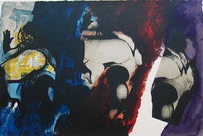 John Piper Artist - Eye & Camera: Red Blue, Yellow' 1986