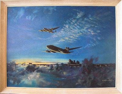 Keith Shackleton Artist Aircraft Aerial Flight Refueling 1946