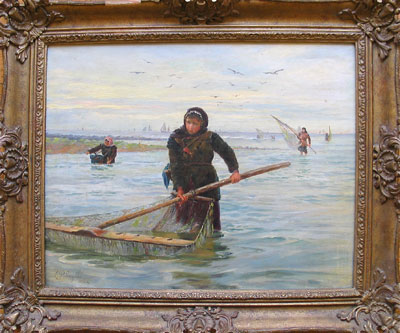 Lionel Percy Smythe Artist Oil Painting Boulogne Shrimpers