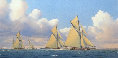 Martin Swan Artist - Lulworth and Britannia - August 1921.
